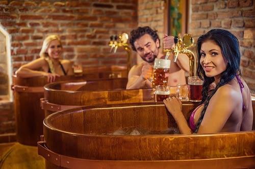 Bathe in beer
